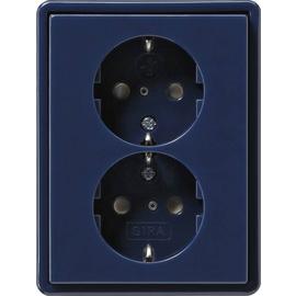 078346 Gira Doppel SCHUKO KS S Color Blau Produktbild
