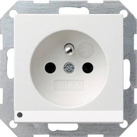 117203 Gira Steckdose Erdstift KS LED Beleuchtung System 55 Reinweiß Produktbild
