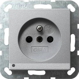 117226 Gira Steckdose Erdstift KS LED Beleuchtung System 55 Farbe Alu Produktbild