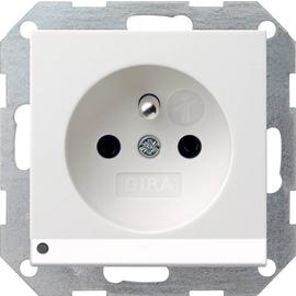 117227 Gira Steckdose Erdstift KS LED Beleuchtung System 55 Reinweiß matt Produktbild
