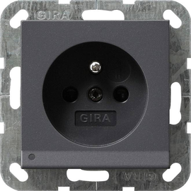 117228 Gira Steckdose Erdstift KS LED Beleuchtung System 55 Anthrazit Produktbild