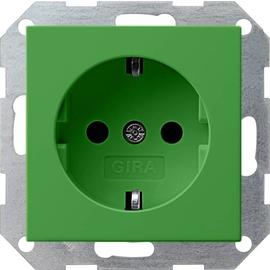 145502 Gira SCHUKO Steckdose System 55 Grün Produktbild