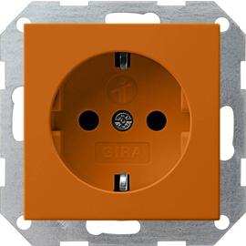 272602 Gira SCHUKO Steckdose SK KS System 55 Orange Produktbild