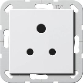 277203 Gira Steckdose Round Pin 5 A System 55 Reinweiß Produktbild