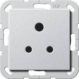 277226 Gira Steckdose Round Pin 5 A System 55 Farbe Alu Produktbild