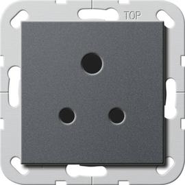 277228 Gira Steckdose Round Pin 5 A System 55 Anthrazit Produktbild