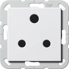 277403 Gira Steckdose Round Pin 15 A abschaltbar System 55 Reinweiß Produktbild