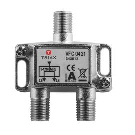343012 Triax VFC 0421 1,2 GHz 2-fach Verteiler, 3,7 dB Produktbild