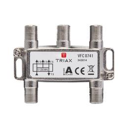 343014 Triax VFC 0741 1,2 GHz 4-fach Verteiler, 7,5 dB Produktbild