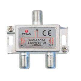 349802 Triax SCS 2 SAT BK Verteiler, 2-fach, 6,2 dB Produktbild