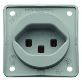 962592506 Berker Integro STD mit Schutz kontakt Schweiz Typ 23 grau matt Produktbild