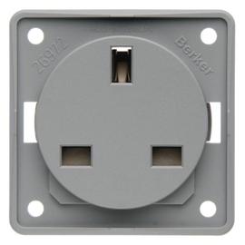 962622506 Berker Integro STD British Standard m. Schutzkontakt lichtgrau dama Produktbild