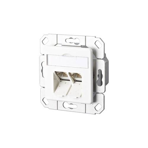 130C381102-I Metz Connect Datendose CAT6 Port UPk rw E DAT C6A 2-fach 50x50 ZS Produktbild