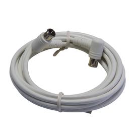 389328 Triax SATKAB A+ 1.5 m weiß 100dB SAT-Anschlusskabel Quick-F-Winkelstecker Produktbild