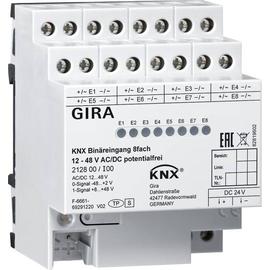 212800 Gira KNX Binäreingang 8fach 12-48 V AC/DC/potentialfrei 4TE Produktbild