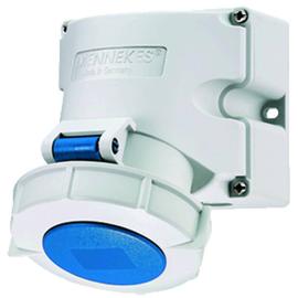 9105 Mennekes MENNEKES CEE Wandsteckdose TwinCONTACT 16A 3p 230V 6h IP67 Produktbild