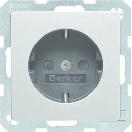 47236084 Berker BERKER Q.x SSD mit erh. Berührungsschutz alu samt Produktbild