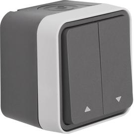 50753535 Berker BERKER W.1 Jalousie Taster mit Wippe Ap grau Produktbild
