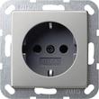 0188600 Gira SCHUKO System 55 Edelstahl Produktbild