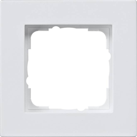 0211295 Gira Abdeckrahmen 1f flach E2 Reinweiß Produktbild