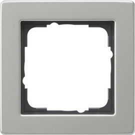 021133 Gira Abdeckrahmen 1f E2 Edelstahl Produktbild