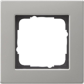 0211335 Gira Abdeckrahmen 1f flach E2 Edelstahl Produktbild