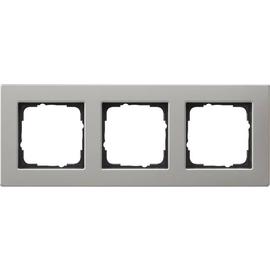 0213335 Gira Abdeckrahmen 3f flach E2 Edelstahl Produktbild