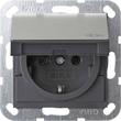 0454600 Gira SCHUKO KD System 55 Edelstahl Produktbild