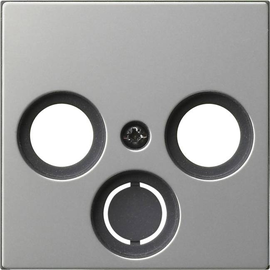 0869600 Gira Abdeckung TV/Sat System 55 Edelstahl Produktbild
