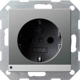 1170600 Gira SCHUKO LED-Leuchte + SH System 55 Edelstahl Produktbild