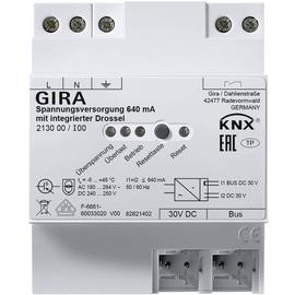 213000 Gira KNX Spannungsversorgung 640mA mit integrierter Drossel 4TE Produktbild
