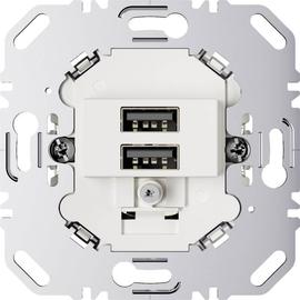 260209 Berker USB Ladesteckdose 230V 2-fach mit Tragring polarweiß matt Produktbild