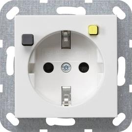 267727 Gira FI Schutzsteckd. 30 mA SH System 55 Reinweiß m Produktbild
