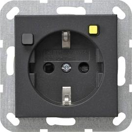 267728 Gira FI Schutzsteckd. 30 mA SH System 55 Anthrazit Produktbild