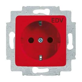 20EUCQ/DV-217-101 BUSCH-JÄGER SCHUKO STECKDOSE AUFDR. EDV REFLEX SI ROT Produktbild