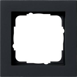 021109 GIRA RAHMEN 1-FACH E2 SCHWARZ MATT Produktbild