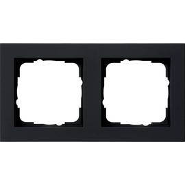 021209 GIRA RAHMEN 2-FACH E2 SCHWARZ MATT Produktbild