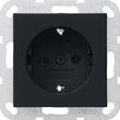 0188005 GIRA  SCHUKO-STECKDOSE SYSTEM 55 SCHWARZ MATT Produktbild