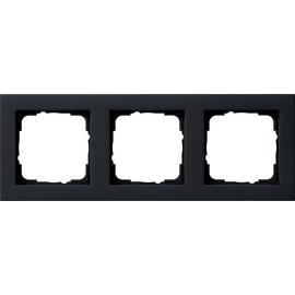 021309 GIRA RAHMEN 3-FACH E2 SCHWARZ MATT Produktbild