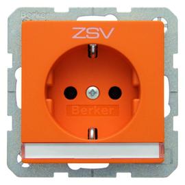 47506014 Berker BERKER Q.x SSD mit Schriftleiste und Aufdruck ZSV  orange Produktbild