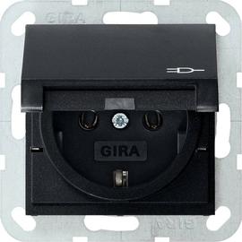 0454005 Gira SCHUKO KD System 55 Schwarz m Produktbild