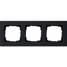 0213095 Gira Abdeckrahmen 3f flach Gira E2 Schwarz matt Produktbild