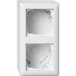 106203 Gira AP Gehäuse 2-Fach & Rahmen Standard 55 Reinweiß glänzend Produktbild