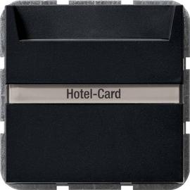 0140005 Gira Hotel Card Taster Wechsler (bel.) BSF System 55 Schwarz m Produktbild