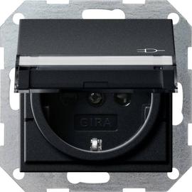 2762005 Gira SCHUKO KD BSF + SH System 55 Schwarz m Produktbild