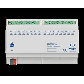 BE-16000.02 MDT Binäreingang 16 fach, 8TE, REG, Ausführung potentialfrei Produktbild
