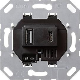 236900 Gira USB Spannungsversorgung 2f Typ A/C Einsatz Produktbild