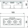 6119433 OBO SDE-RW D0RW3B Steckdosen- einheit Modul 45, 3fach 84x185x59mm Produktbild Additional View 2 S