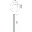 6290091 Obo ISSRHSM45EL Installationssäule Boden 70x670  Alumin Produktbild Additional View 2 S