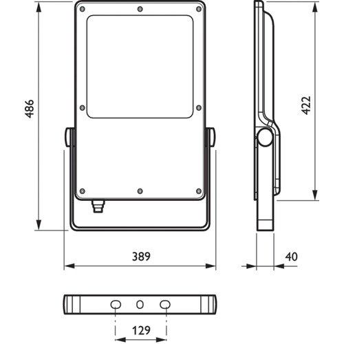 09641000 Philips CoreLine Tempo BVP130 LED160/740 A LED Scheinw. 16000lm 139W Produktbild Additional View 3 L